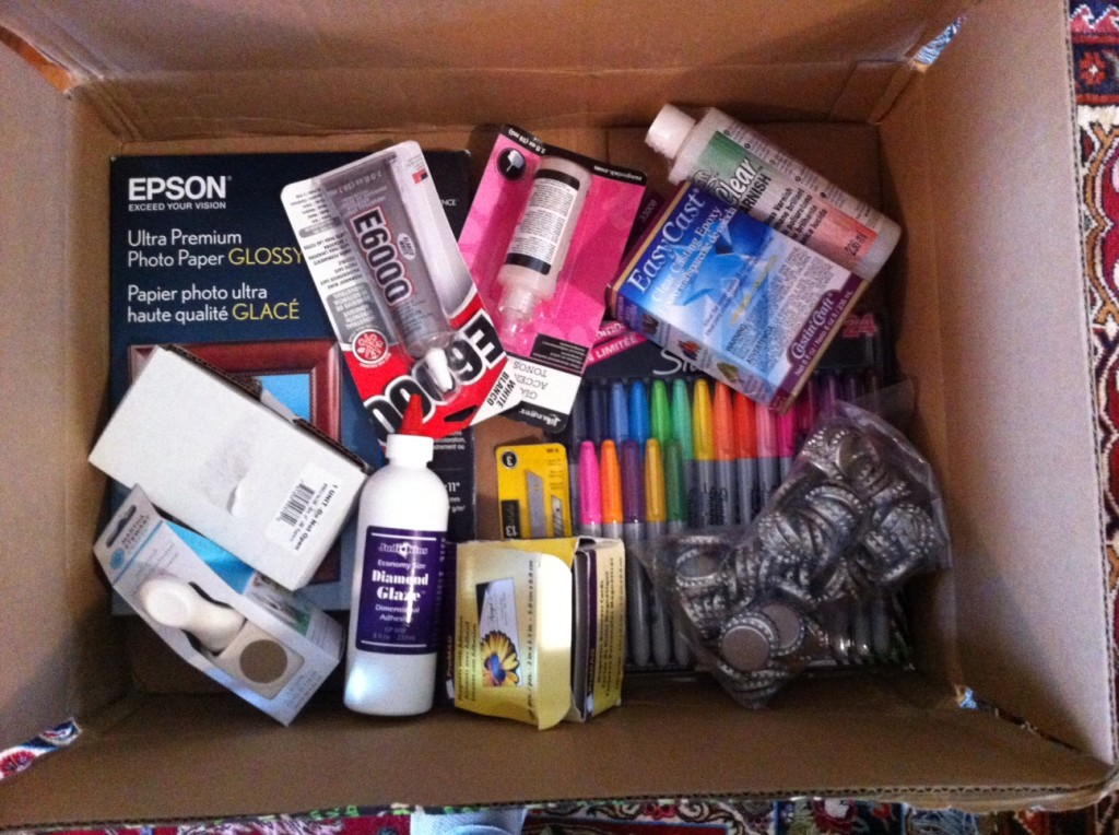 Random shipment from Amazon of Crafty Author supplies.